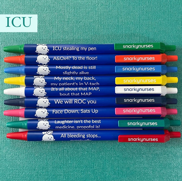 Snarky Pens: ICU (Set of 9 Pens)