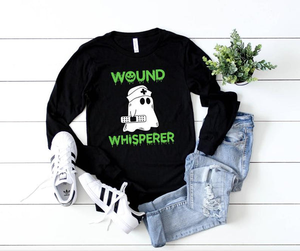 Shirt: Wound Whisperer - Long Sleeve [Halloween]