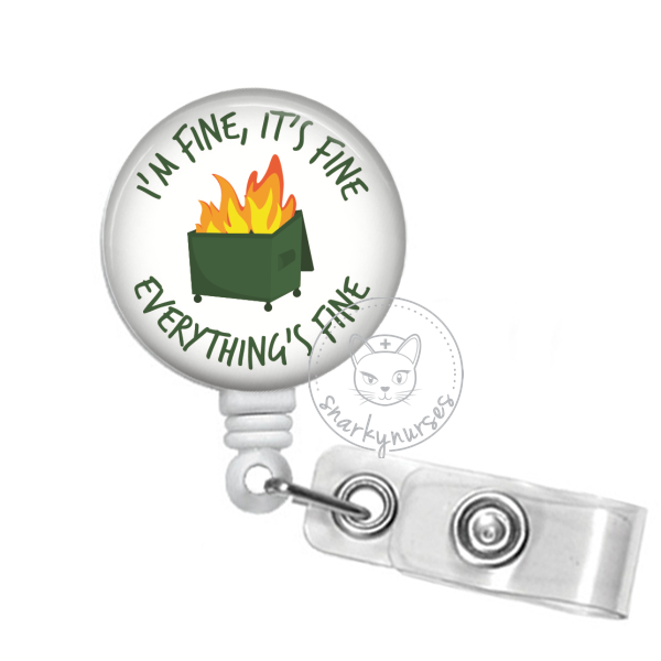 Badge Reel: Dumpster Fire - Multiple Colors