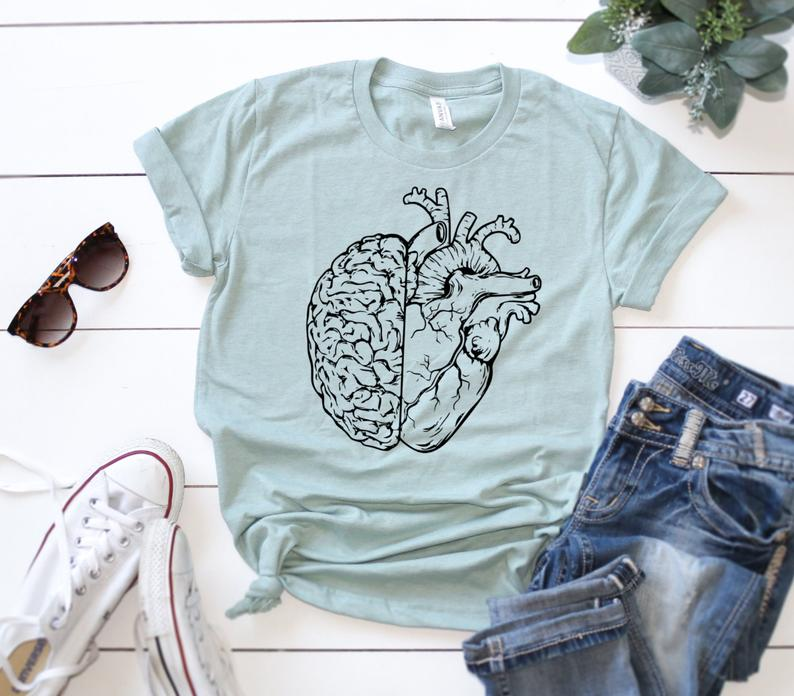 Shirt: Brain & Heart