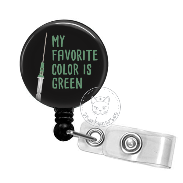 Badge Reel: My Favorite Color is Green - Multiple Colors!