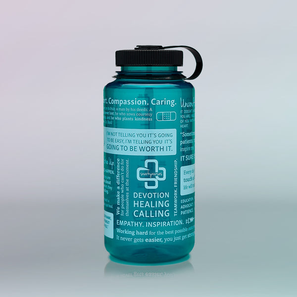 Nalgene® Positive Nursing Words Trout Green Water Bottle
