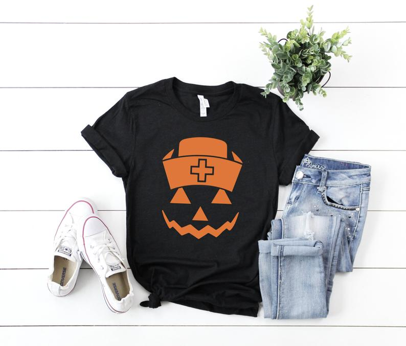 Shirt: Nurse Jackolantern [Halloween]