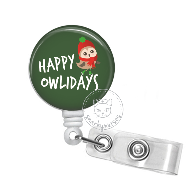Badge Reel: Happy Owlidays - Multiple Colors!