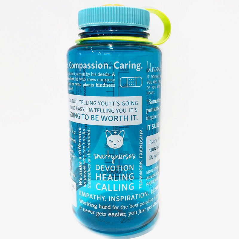 Nalgene® Positive Nursing Words Cerulean Water Bottle