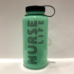 Nalgene® Nurse Life Glow [in the dark] Green Water Bottle!