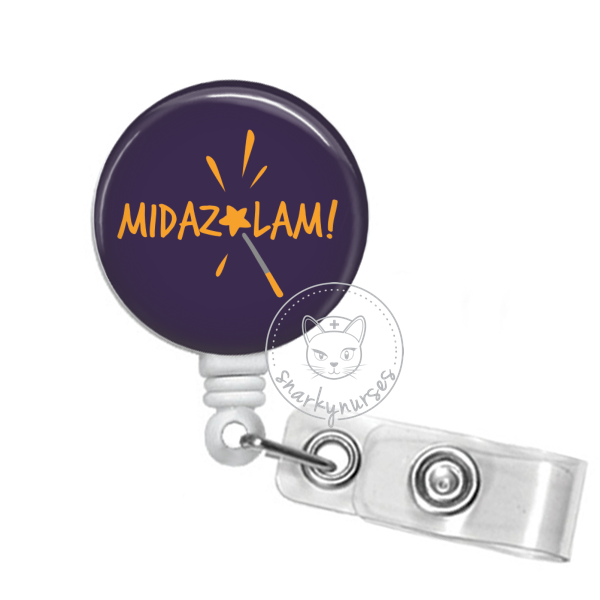 Badge Reel: Midazolam! - Multiple Colors!