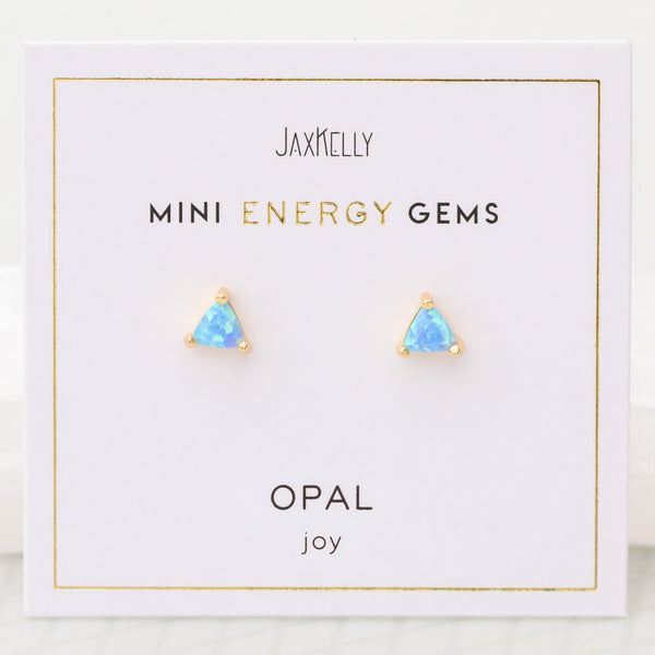 Mini Opal Gem Earrings
