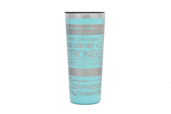 Slightly Imperfect Tumbler: Positive Vibes - Multiple Colors