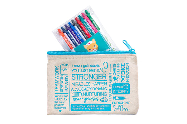 Snarky Pen Set & Zippered Pouch!