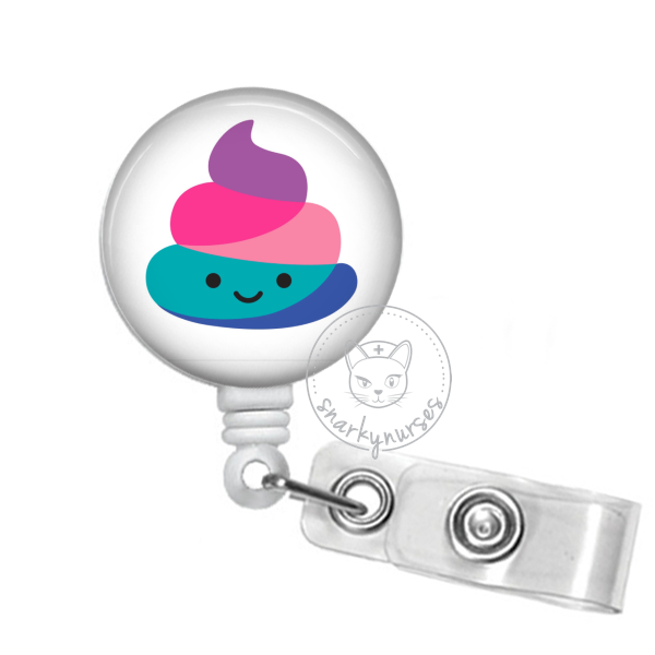 Badge Reel: Rainbow Poo