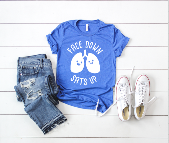 Shirt: Face Down, Sats Up