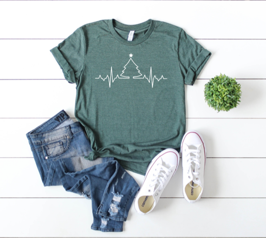 Shirt: EKG Christmas Tree