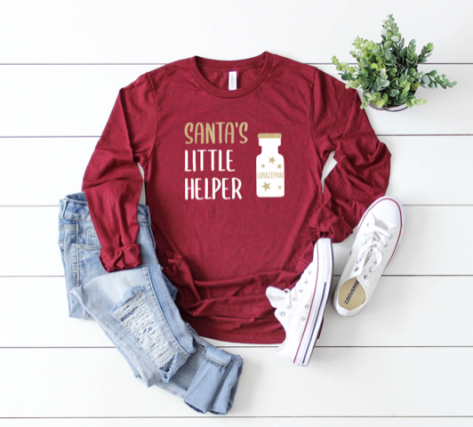 Shirt: Santa's Little Helper, Long Sleeve