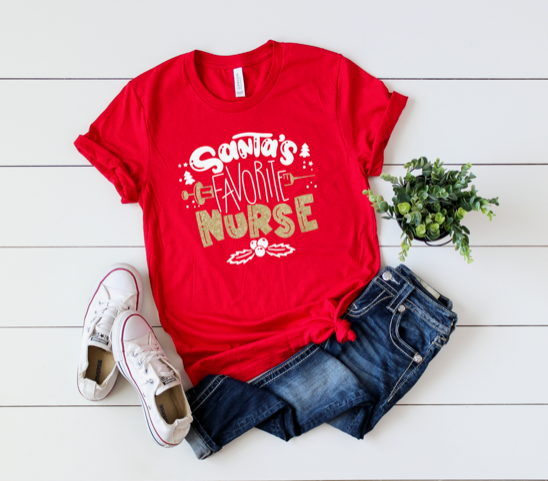Shirt: Santa's Favorite Nurse