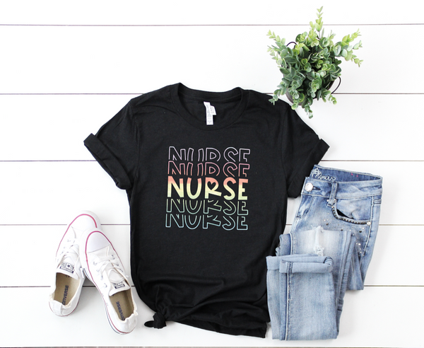 Shirt: Nurse - Watercolor