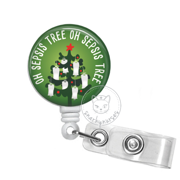 Badge Reel: Oh Sepsis Tree - Multiple Colors!