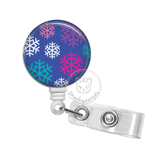 Badge Reel: Snowflakes - Multiple Colors