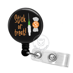 Badge Reel: Stick or Treat