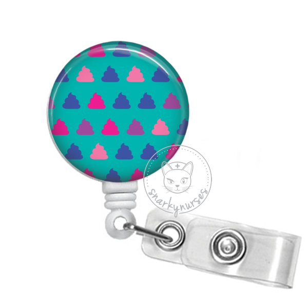 Badge Reel: Mini Poops - Multiple Colors!