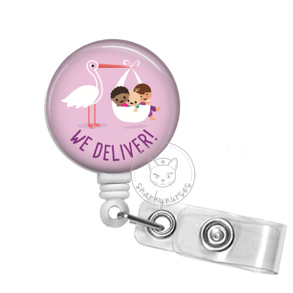 Badge Reel: We Deliver - Multiple Colors!