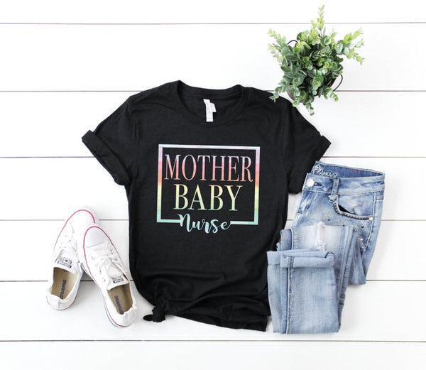Shirt: Mother Baby Nurse [Watercolor]