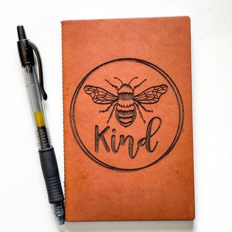 Leather Notebook: Bee Kind