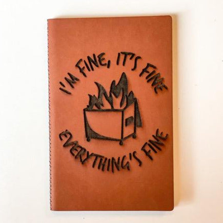 Leather Notebook: Dumpster Fire