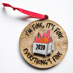 Ornament: Dumpster Fire - Order by midnight 12/13 for arrival by Christmas!