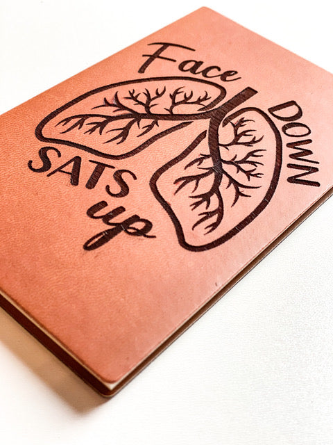 Leather Notebook: Face down sats up