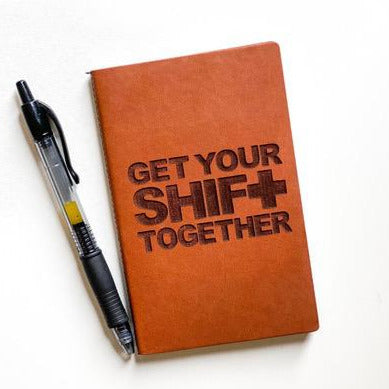 Leather Notebook: Get your shift together
