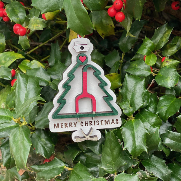Ornament: Stethoscope Tree - Order by midnight 12/13 for arrival by Christmas!