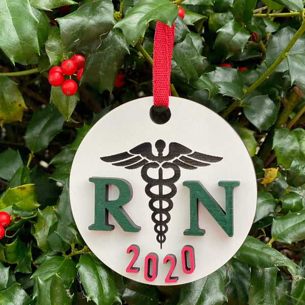 Ornament: RN 2020 - Order by midnight 12/13 for arrival by Christmas!