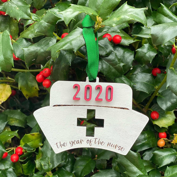 Ornament: 2020 Year of the Nurse - Order by midnight 12/13 for arrival by Christmas!