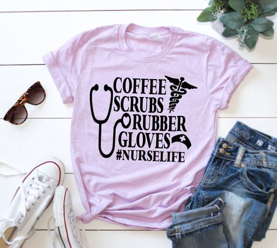 Shirt: Coffee Scrubs Rubber Gloves
