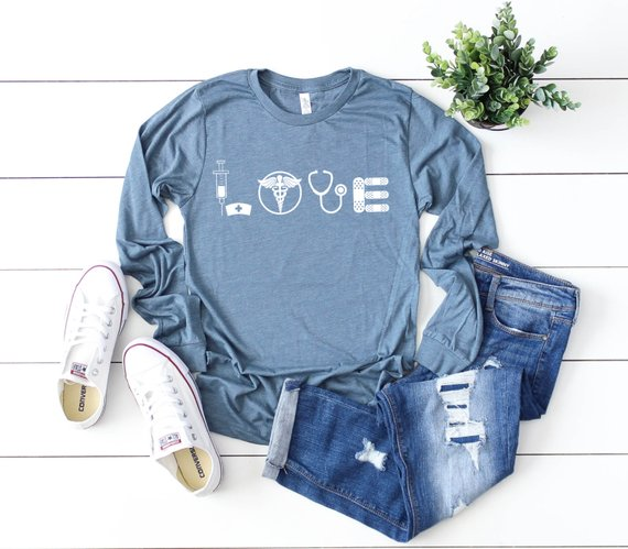 Shirt: LOVE, Long Sleeve