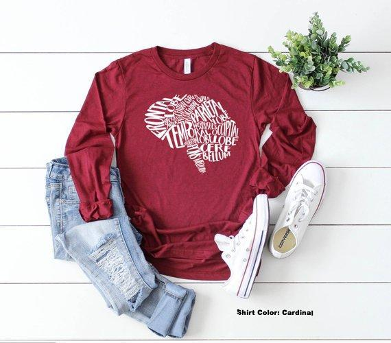 Shirt: Typographical Brain, Neuro Nurse, Long Sleeve