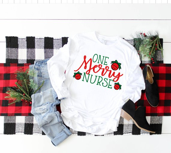 Shirt: One Merry Nurse, Long Sleeve
