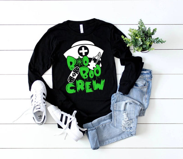 Shirt: Boo Boo Crew - Long Sleeve [Halloween]