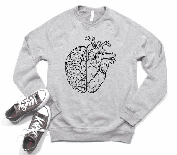 Sweatshirt: Heart & Brain