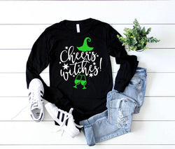 Shirt: Cheers Witches! - Long Sleeve [Halloween]
