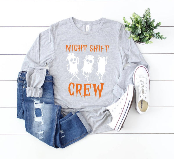 Shirt: Night Shift Crew - Long Sleeve [Halloween]