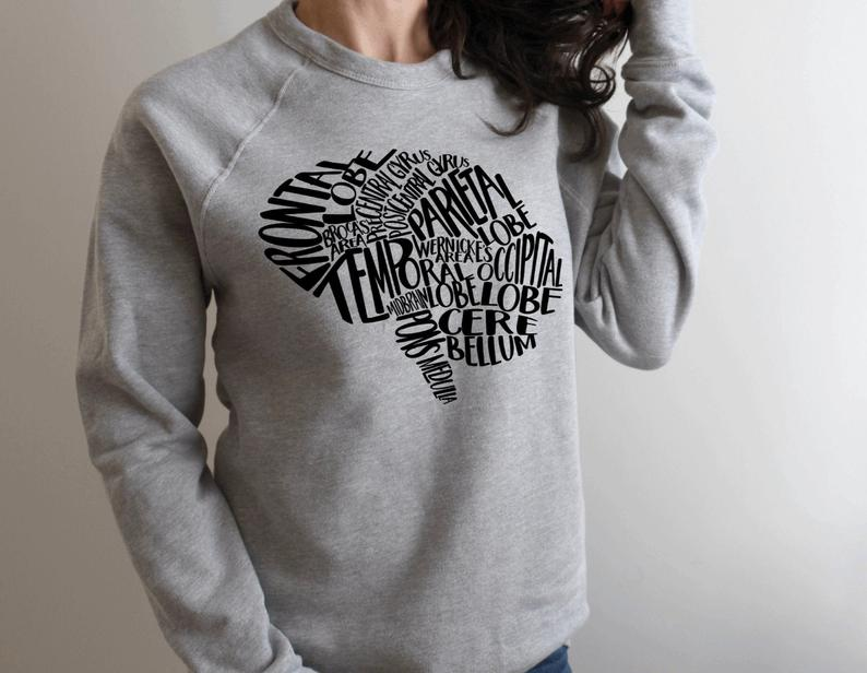 Sweatshirt: Typographical Brain