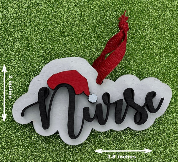 Ornament: Nurse Santa Hat