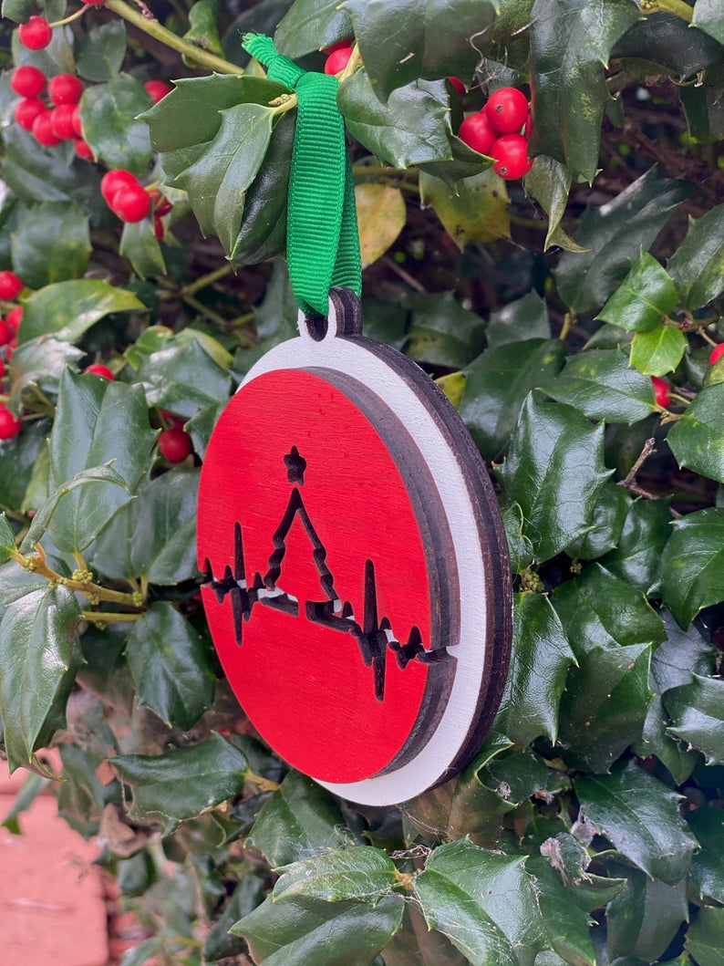 Ornament: EKG Tree