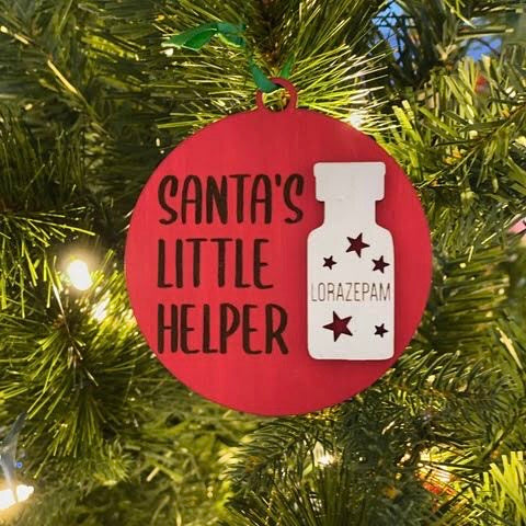 Ornament: Santa's Little Helper - Order by midnight 12/13 for arrival by Christmas!