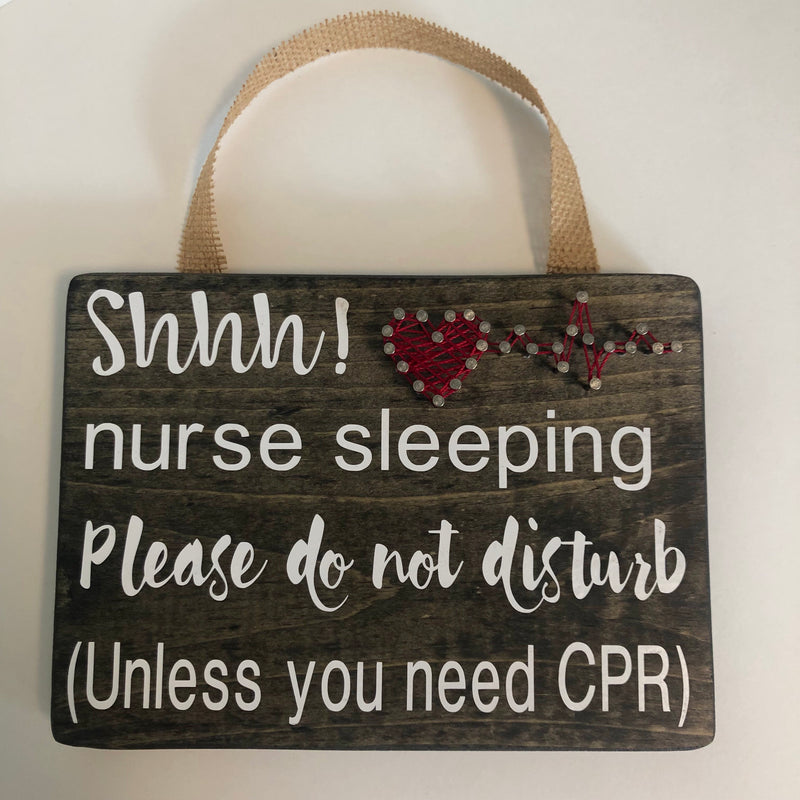 String Art: Shhhh! Nurse Sleeping!