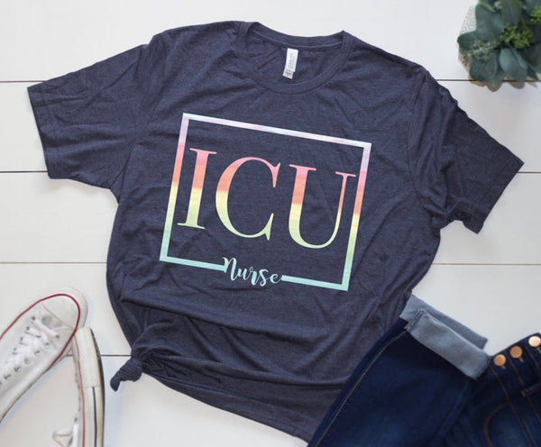 Shirt: ICU Nurse [Watercolor]