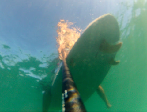 Underwater shot of SUP