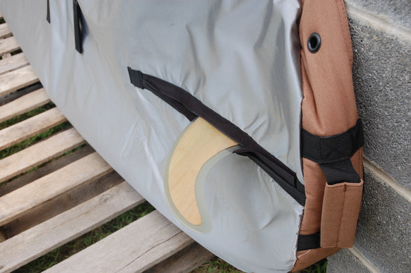 Easy velcro fin slots for SUP bags